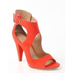 Sigerson Morrison Red Women's Suede Shoes Sz 9